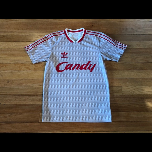 size 40 b4fa6 b2e87 Adidas Liverpool FC Jersey Shirt Candy XS Rare